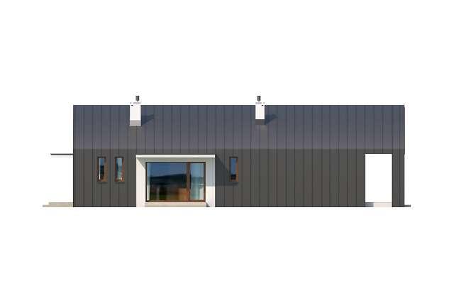 Zobacz powiększenie elewacji ogrodowej - projekt Lancaster