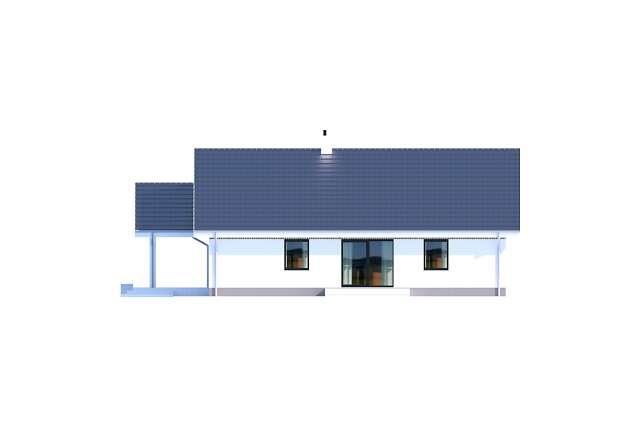 Zobacz powiększenie elewacji bocznej lewej - projekt Noordwijk