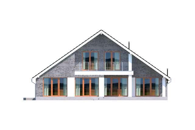Zobacz powiększenie elewacji ogrodowej - projekt Lagos V