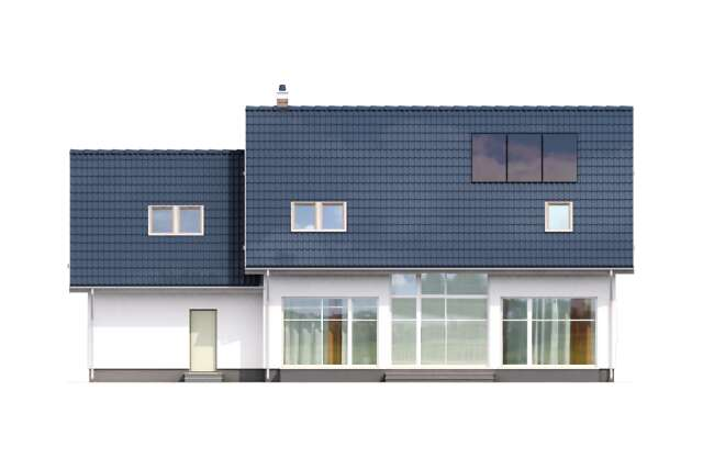 Zobacz powiększenie elewacji ogrodowej - projekt Montreal II
