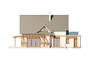 Elewacja ogrodowa - projekt Tokio III