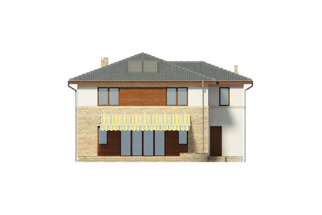 Zobacz powiększenie elewacji ogrodowej - projekt Siena