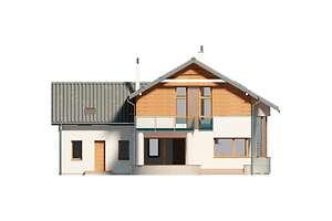 Elewacja ogrodowa - projekt Sapporo II
