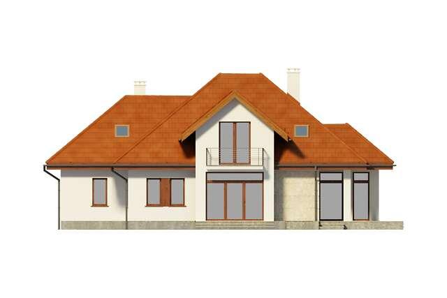 Zobacz powiększenie elewacji ogrodowej - projekt Dijon III