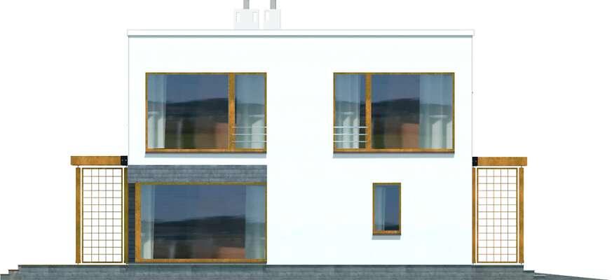 Elewacja ogrodowa - projekt Belfast II