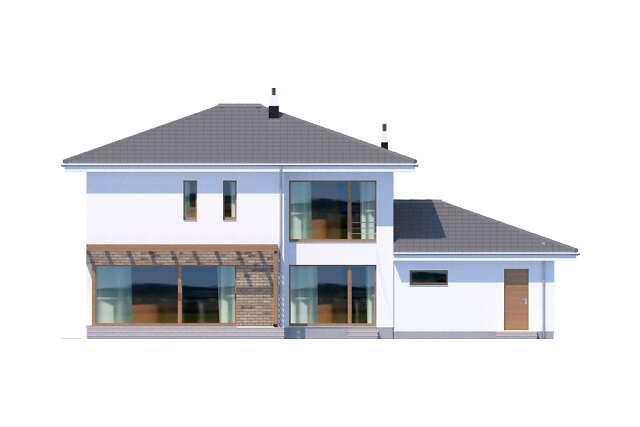 Zobacz powiększenie elewacji ogrodowej - projekt Belfast VII