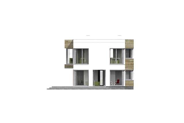 Zobacz powiększenie elewacji ogrodowej - projekt Aarhus