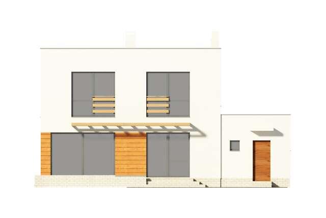 Zobacz powiększenie elewacji ogrodowej - projekt Edynburg II