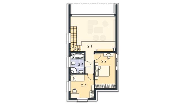 Rzut kondygnacji Piętro - projekt Delft