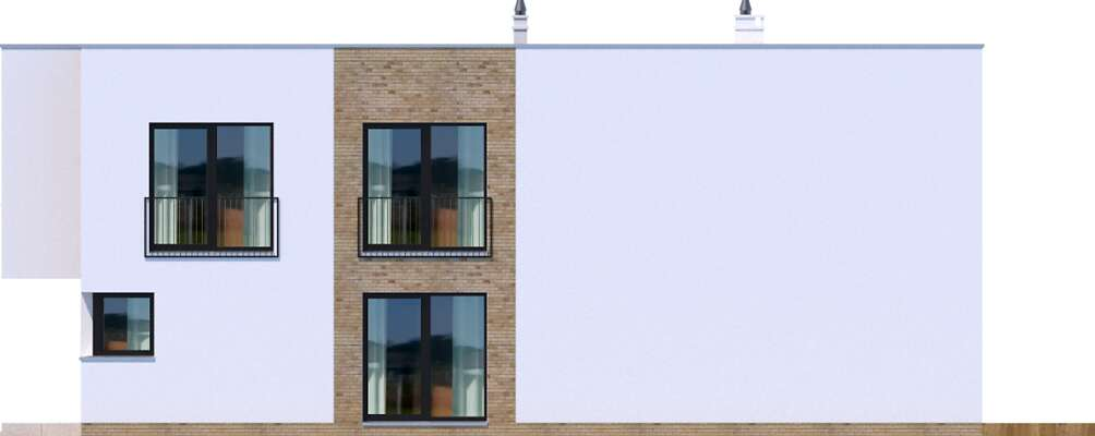 Elewacja boczna prawa - projekt Delft III