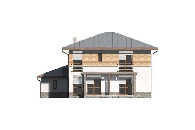 Zobacz powiększenie elewacji ogrodowej - projekt Amalfi