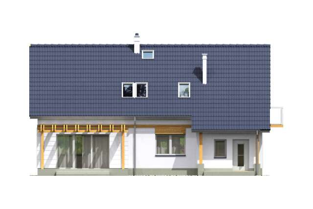 Zobacz powiększenie elewacji ogrodowej - projekt Ars