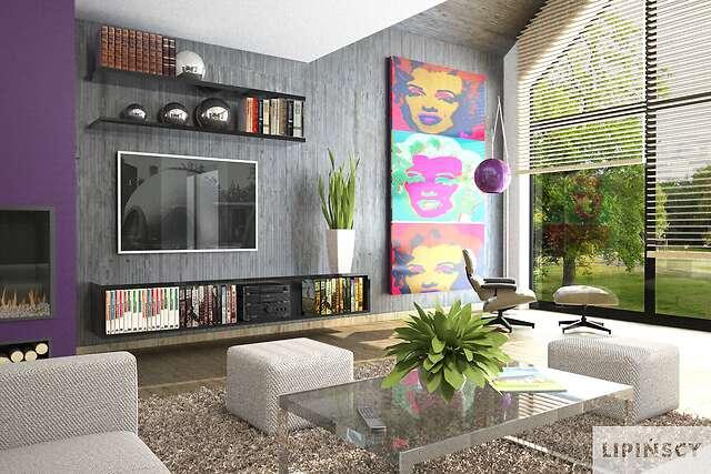 Zobacz powiększenie wizualizacji wnętrza - projekt Tampa