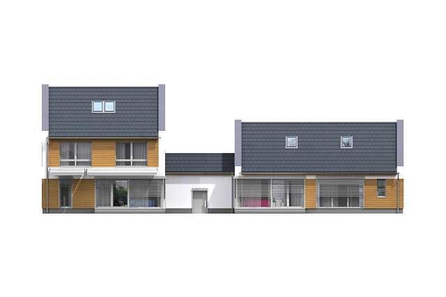 Zobacz powiększenie elewacji ogrodowej - projekt Odense
