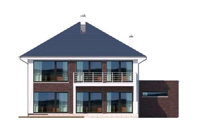 Zobacz powiększenie elewacji ogrodowej - projekt Carrara II
