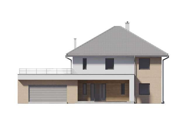 Zobacz powiększenie elewacji frontowej - projekt Carrara III