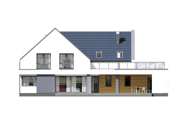 Zobacz powiększenie elewacji ogrodowej - projekt Olten