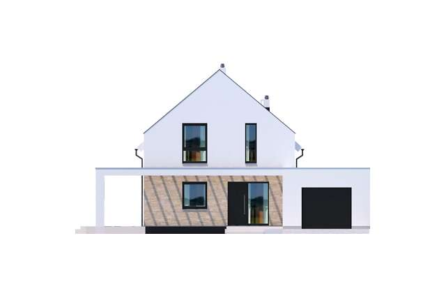 Zobacz powiększenie elewacji frontowej - projekt Bergamo II