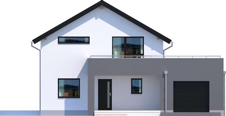 Elewacja frontowa - projekt Bergamo III