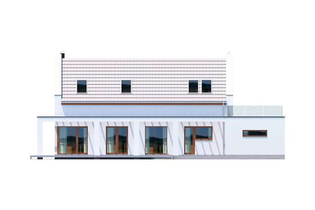 Zobacz powiększenie elewacji ogrodowej - projekt Bergamo IV