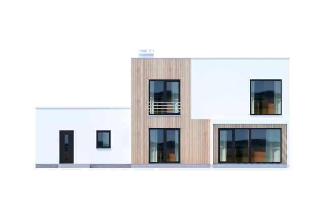 Zobacz powiększenie elewacji ogrodowej - projekt Grenoble