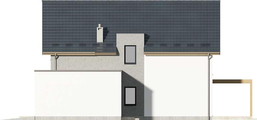 Elewacja boczna prawa - projekt Grenoble II