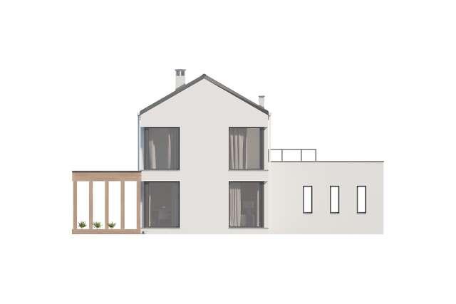 Zobacz powiększenie elewacji ogrodowej - projekt Dax