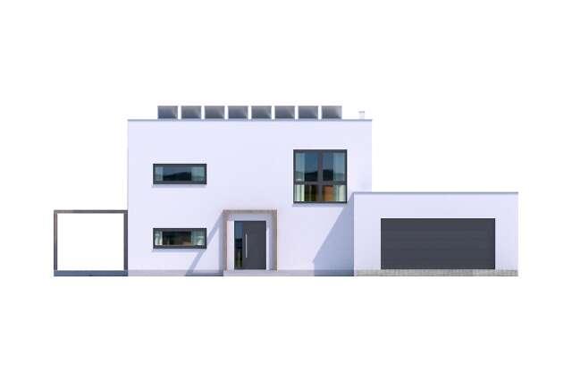 Zobacz powiększenie elewacji frontowej - projekt Koge III
