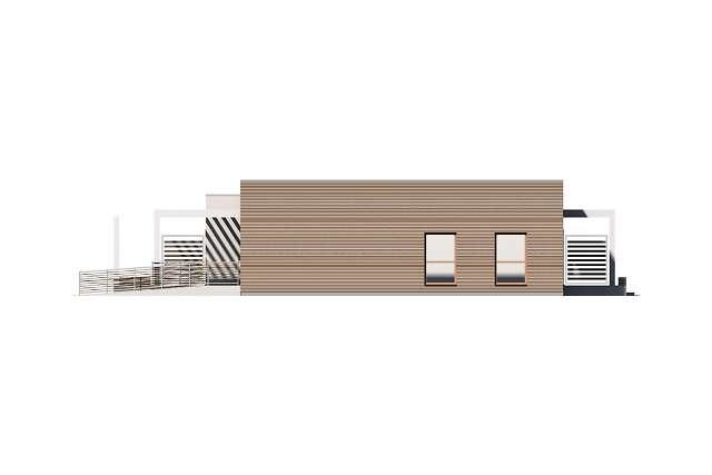 Zobacz powiększenie elewacji bocznej prawej - projekt Budynek agroturystyczny Jesion