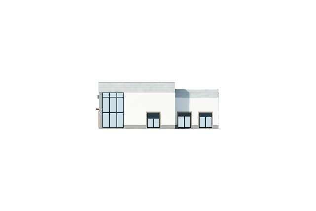 Zobacz powiększenie elewacji bocznej prawej - projekt Budynek usługowy
