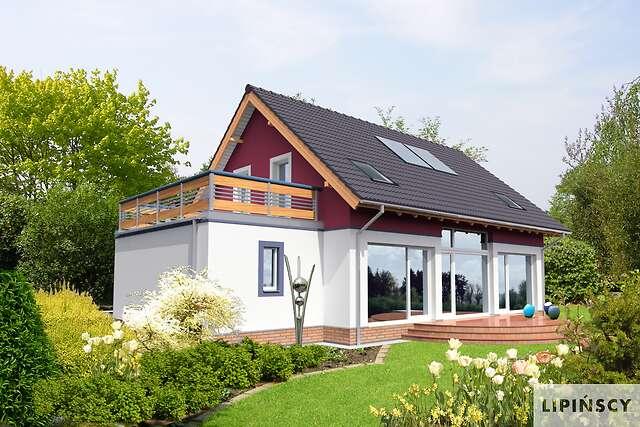 Zobacz powiększenie wizualizacji ogrodowej - projekt Darmstadt Pasywny 1