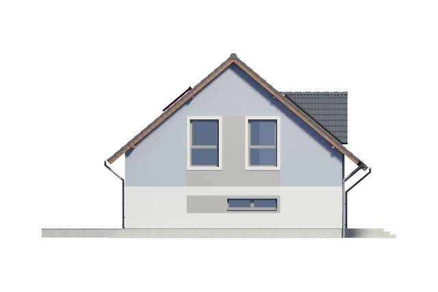 Zobacz powiększenie elewacji bocznej lewej - projekt Lipińscy Dom Pasywny 2