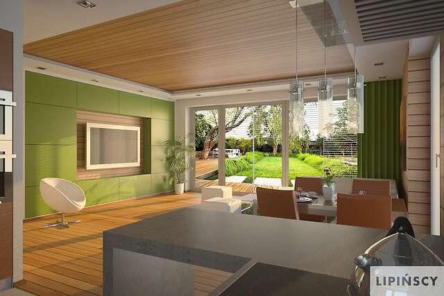 Zobacz powiększenie wizualizacji wnętrza - projekt Pireus Pasywny 3
