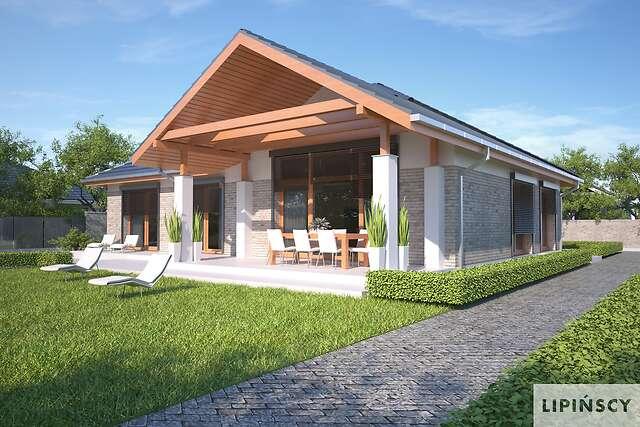 Zobacz powiększenie wizualizacji ogrodowej - projekt Monterey II Pasywny 7