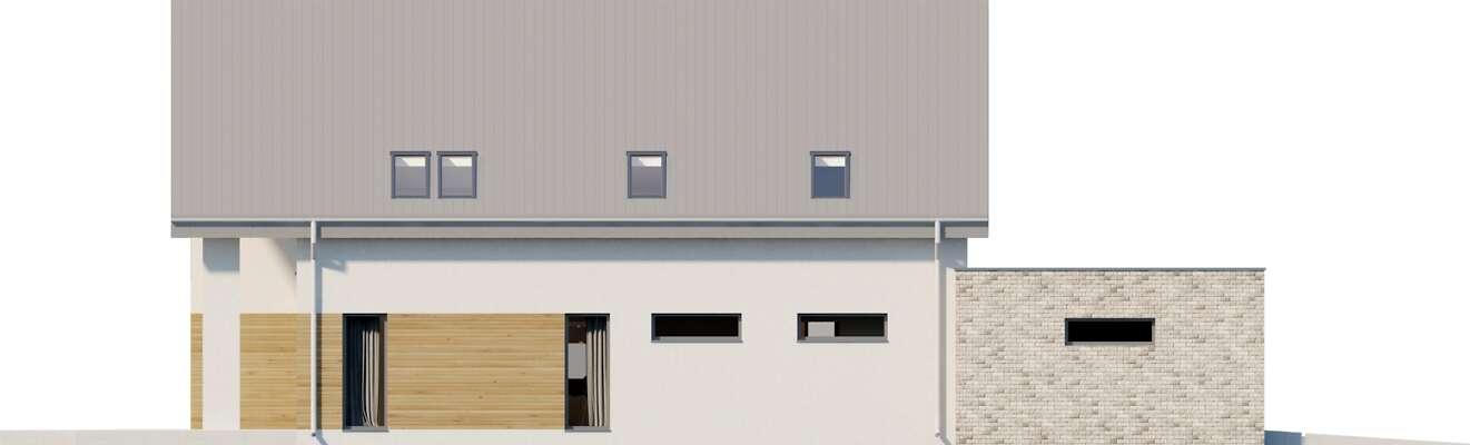 Elewacja ogrodowa - projekt Sligo Pasywny 9