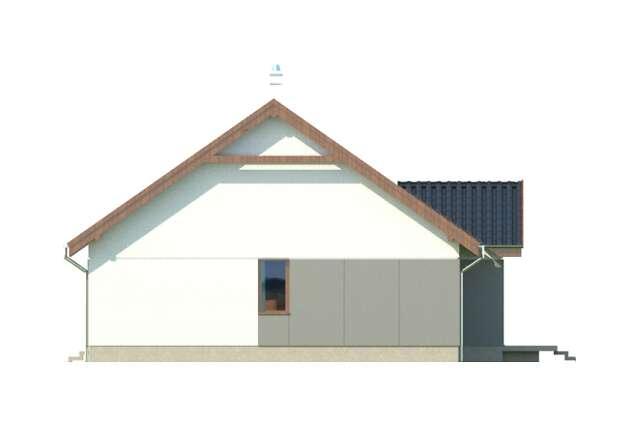 Zobacz powiększenie elewacji bocznej prawej - projekt Frankfurt III