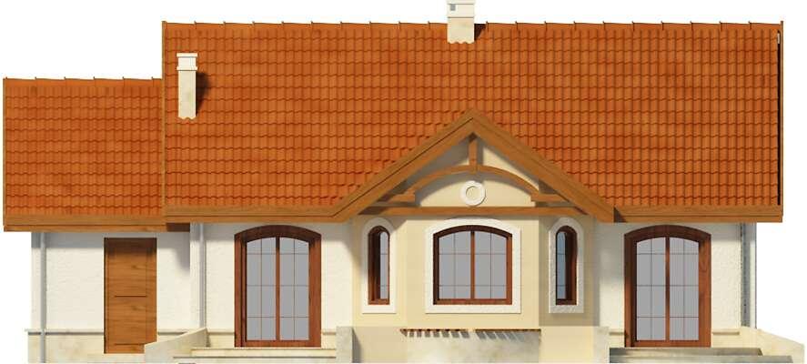 Elewacja ogrodowa - projekt Sofia IV