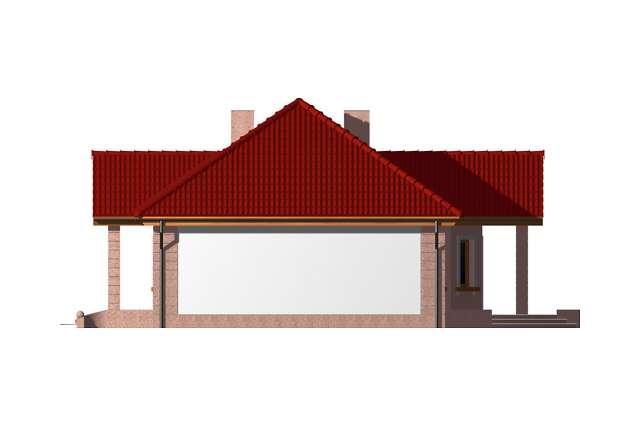 Zobacz powiększenie elewacji bocznej prawej - projekt Duszanbe
