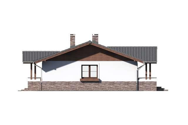 Zobacz powiększenie elewacji bocznej prawej - projekt Aspen