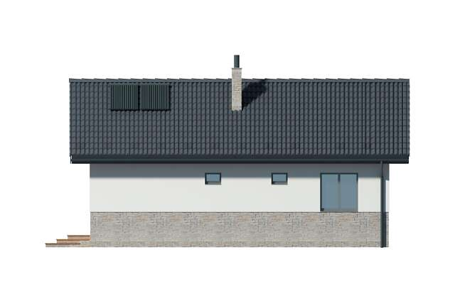 Zobacz powiększenie elewacji bocznej prawej - projekt Lucca VIII