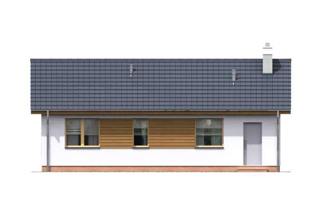 Zobacz powiększenie elewacji ogrodowej - projekt Itaka