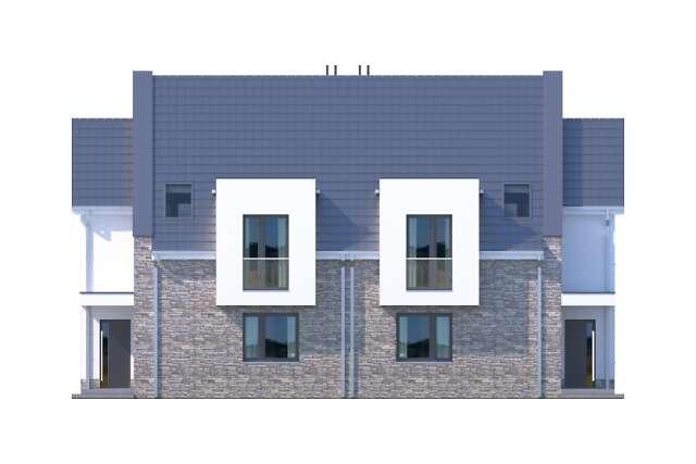 Zobacz powiększenie elewacji frontowej - projekt Zurych III