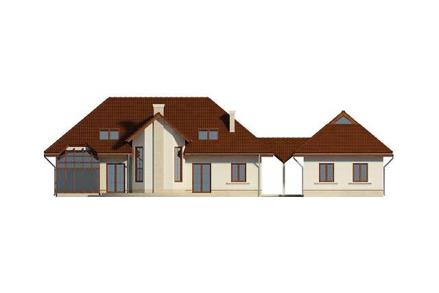 Zobacz powiększenie elewacji ogrodowej - projekt Wersal