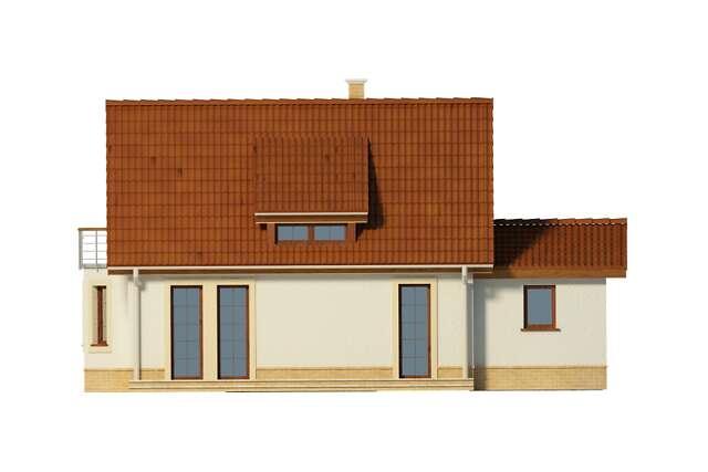 Zobacz powiększenie elewacji ogrodowej - projekt Split II