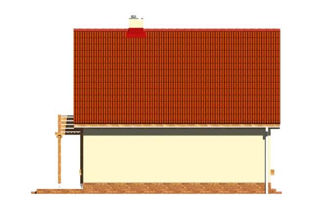 Zobacz powiększenie elewacji bocznej lewej - projekt Ustronny