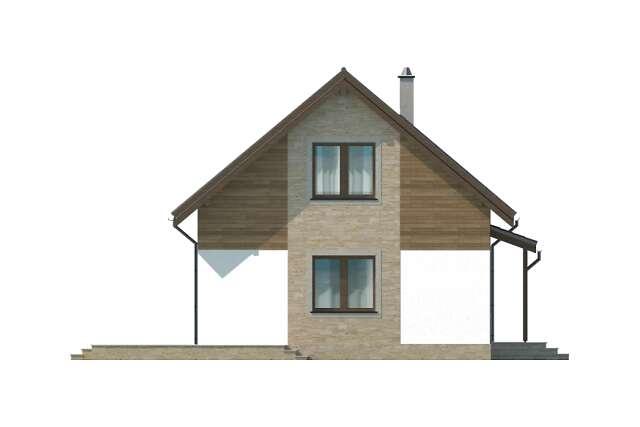 Zobacz powiększenie elewacji bocznej lewej - projekt Vigo