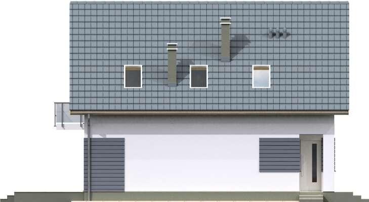 Elewacja boczna lewa - projekt Malmo III