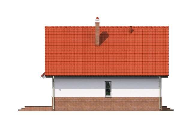 Zobacz powiększenie elewacji bocznej lewej - projekt Gładki