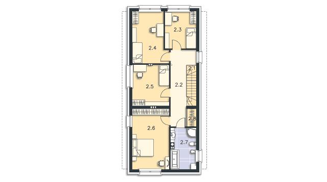 Rzut kondygnacji Piętro - projekt Luton