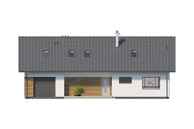 Zobacz powiększenie elewacji frontowej - projekt Nikozja III